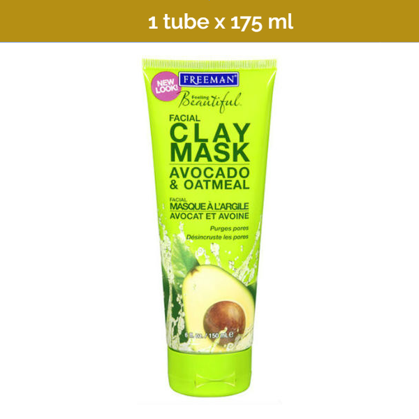 FREEMAN USA Avocado & Oatmeal Facial Clay Mask - 175ml