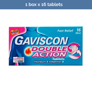 GAVISCON Dual Action Tablets for fast relief of heartburn & indigestion 16 tabs