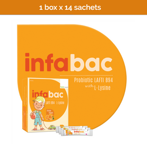 Infabac Probiotic Supplement for kids 1 year and older - 14 sachets x 2g