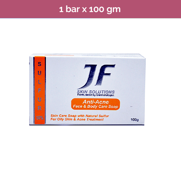 JF 10% Sulfur Soap - Prevent and cure acne and other skin problems