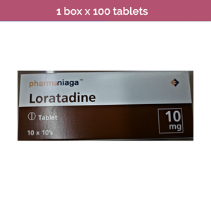 100s LORATADINE 10mg Tablets non-drowsy antihistamine for relief of allergy
