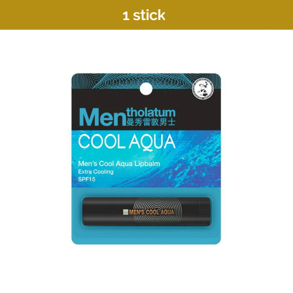 MENTHOLATUM Men's Cool Aqua Lipbalm with SPF 15