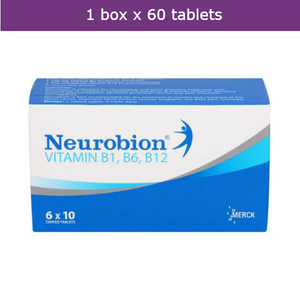 60s NEUROBION Vitamin B Complex B1 B6 B12 for nerve health & pains