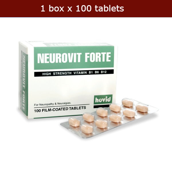 100s NEUROVIT FORTE Vitamin B Complex: B1, B6, B12 High Strength Formula