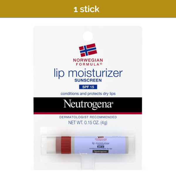 NEUTROGENA Lip Moisturizer with Sunscreen SPF15 to protect dry, chapped lips