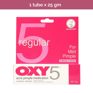 OXY5 - Regular Strength Acne Pimple Medication for mild acne treatment 25g