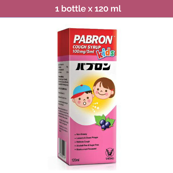 PABRON Cough Syrup for Kids - Aids in clearing phlegm and cough non-drowsy 120ml
