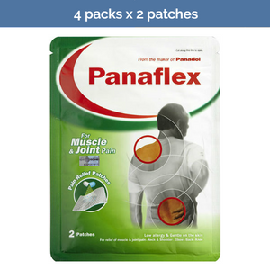 4x 2 PANAFLEX Muscle/Joint Pain Relief Patches for back, neck, knee, elbow aches
