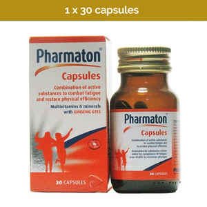 30s PHARMATON Capsules with Ginseng and Selenium to battle chronic fatigue