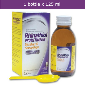 RHINATHIOL Promethazine Syrup - Dissolves & clears phlegm, relieves night coughs