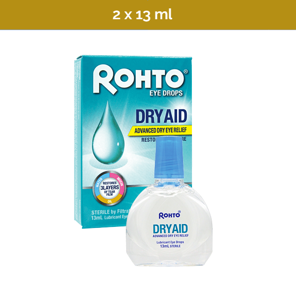 2x ROHTO DRY AID Advanced Dry Eye Relief - Restores Moisture