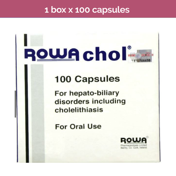 100s ROWACHOL contains essential oils to dissolve cholesterol-based gallstones