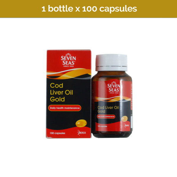 100s SEVEN SEAS Cold Liver Oil Gold Capsules for a healthy immune system