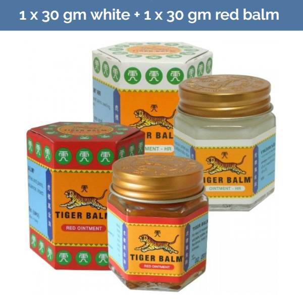 TIGER BALM White + Red ointment for relief of headaches & muscular pains - 30g