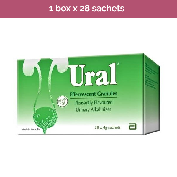 Ural Effervescent Powder – Urinary alkaliniser for relief of painful urination