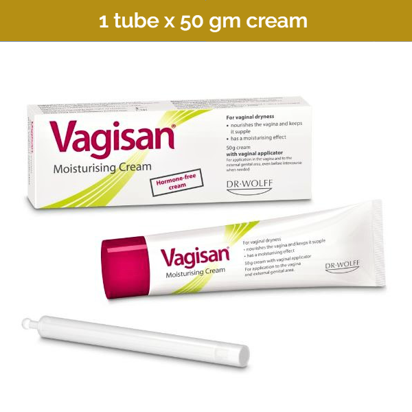 VAGISAN Hormone-free Moist Cream to combat vaginal dryness and irritation - 50g