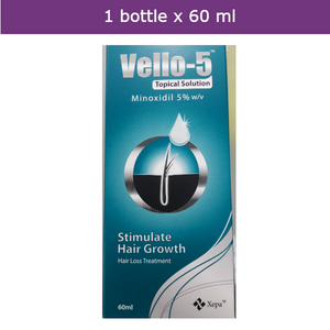 Minoxidil 5% Solution for male-patterns balding hair loss regrowth-60ml