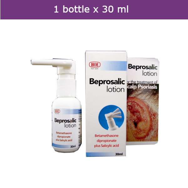 BEPROSALIC Lotion Spray for skin disorders affecting the scalp