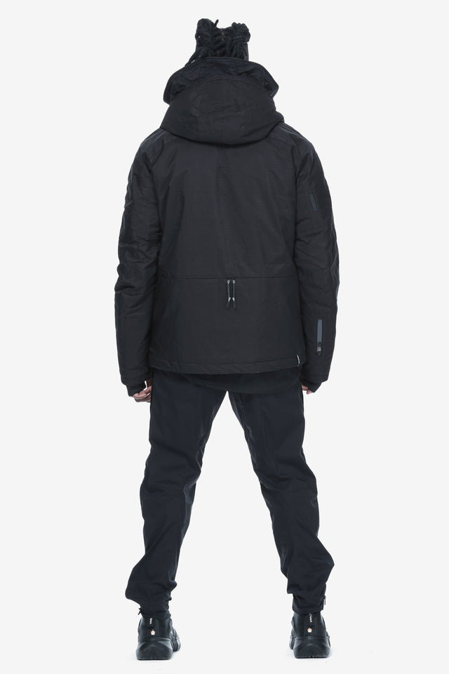 Removable Hood Padded Jacket Qm274-1 LARSEN