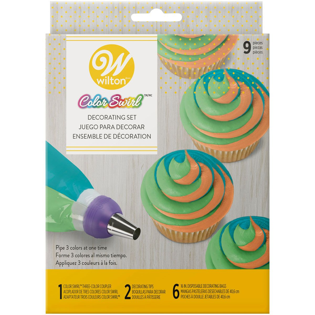 Wilton Color Swirl 3-Color Coupler Decorating Set