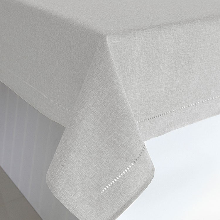Linen Look Table Cloth Light Grey