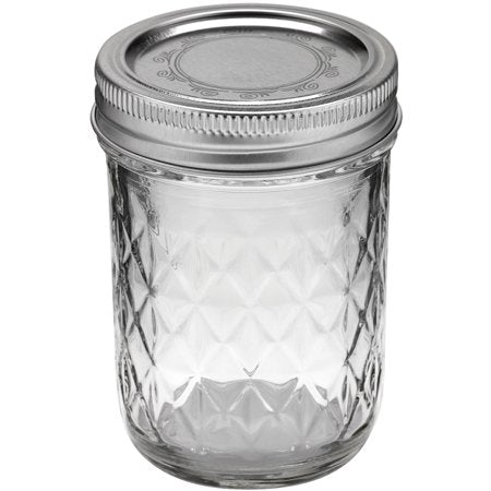 Jarden Ball Half Pint Quilted Crystal Jelly Jar With Lid