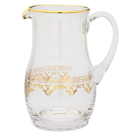 Classic Touch Glass Pitcher 14kt