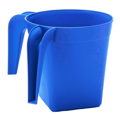 YBM HOME PLASTIC SQUARE WASH CUP, blue