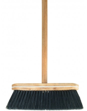 Superio Tampico Broom, with Wooden Handle