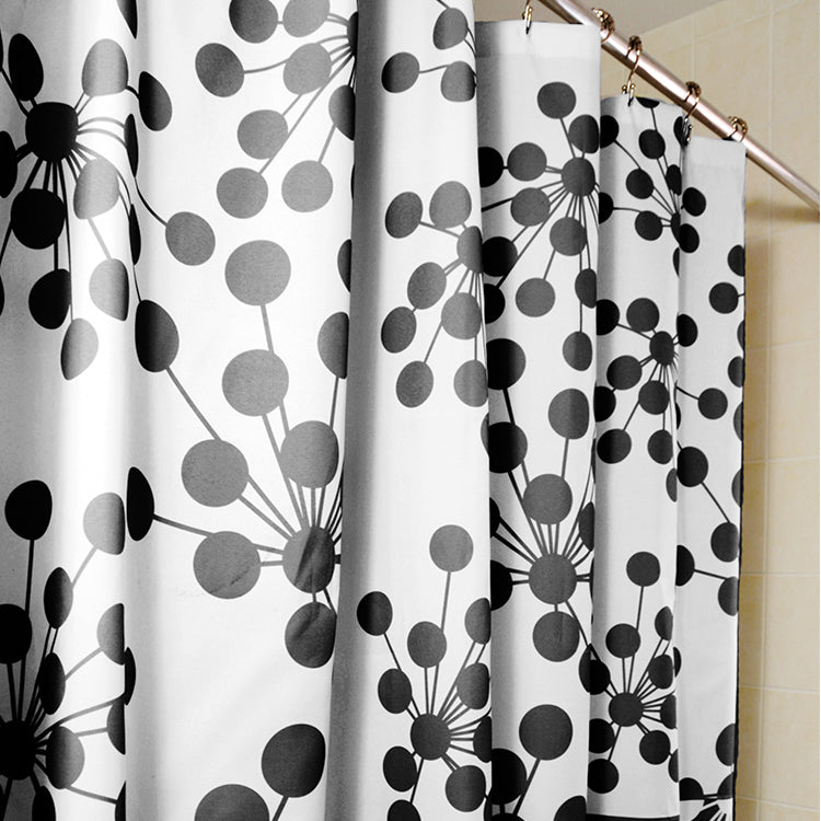 Bud Shower Curtains, Black