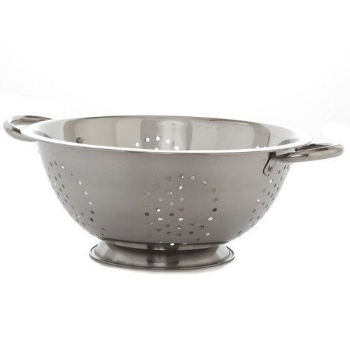 DEEP STAINLESS STEEL COLANDER STRAINER 8 QUART