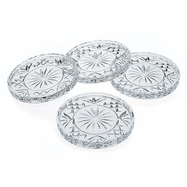 Godinger Crystal Dublin Coasters - Set Of 4