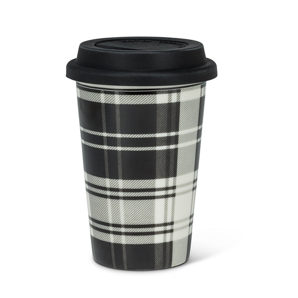 Plaid Takeaway Cup. 2 Pieces