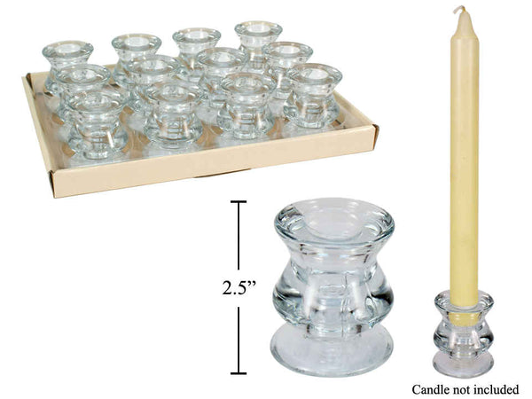 Candleholder - Glass for candle 3/4