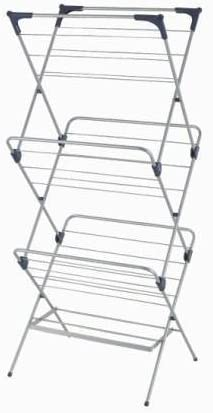 3 Tier Foldable Clothes Water-Resistant Steel Drying Rack