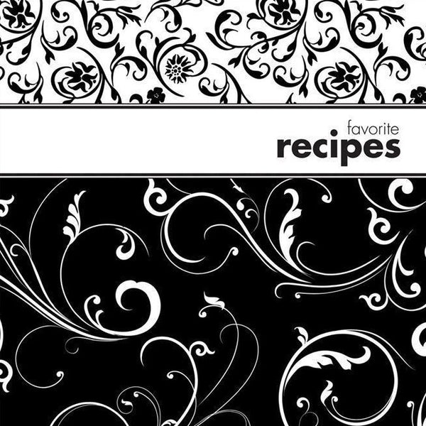 Black & White Recipe Binder