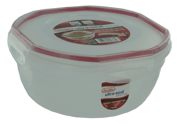 2.5 Qt. Rocket Red Sterilite® Ultraseal Latching Bowl