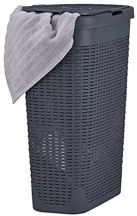 Superio Narrow Laundry Hamper 40 Liter With Easy Lid