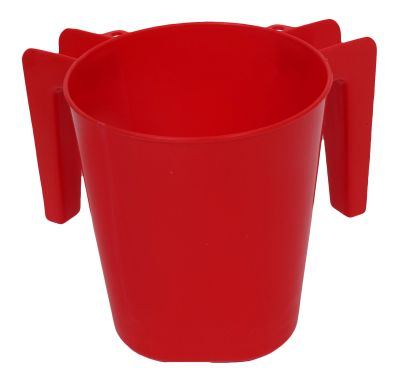 Plastic Washing Cup Red