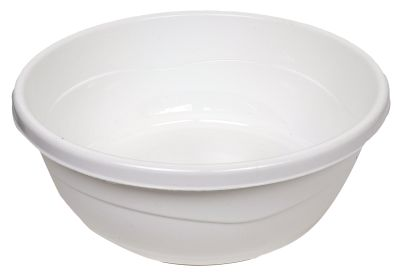 Plastic Washing Bowl White