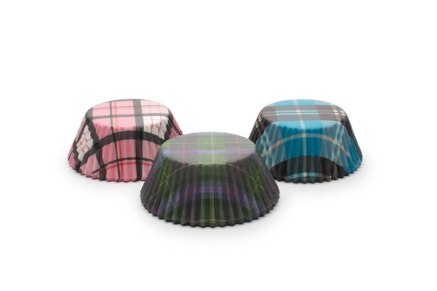 Fox Run Plaid Bake Cup Set, Standard, 75 Cups, Multi-Color