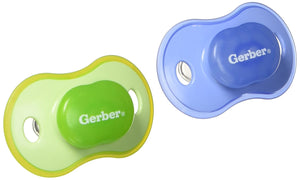 GERBER First Essentials Calming Pacifier in Assorted Colors, 6-18 Months
