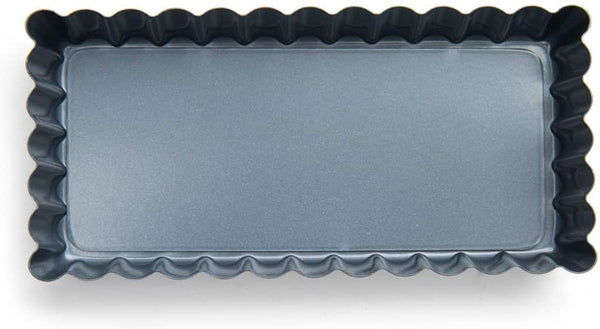 Fox Run Non-Stick Tart Pan, 4.5 x 2.25 x 0.75 inches, Metallic