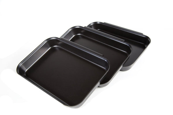 Fox Run Non-Stick Breading Set, Carbon Steel, 3-Piece