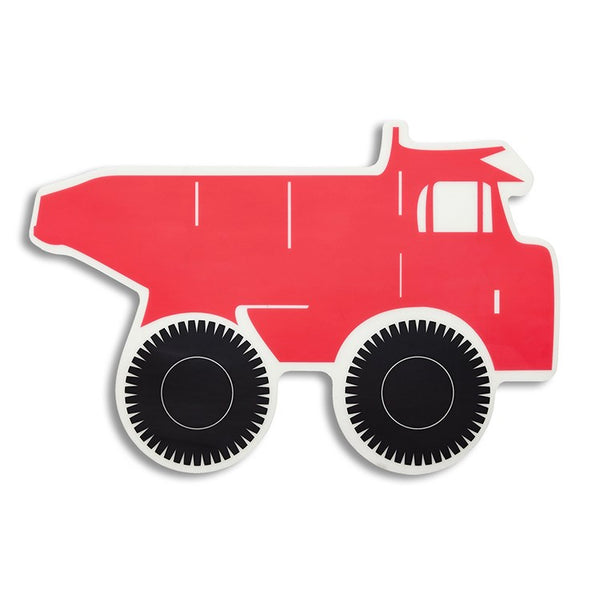 Truck Kiddo Die Cut Soft Touch Placemat Red