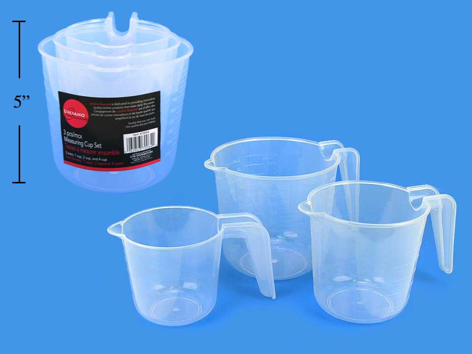 L.Gourmet 3-pc Measuring Cup Set