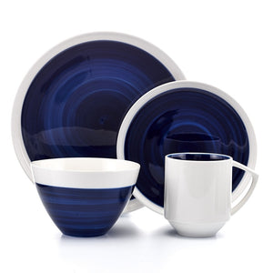 Midnight Glory 16 Piece Dinnerware Set, Service for 4