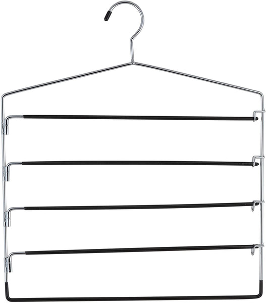 Organize It All 5-Tier Swinging Arm Pant Rack, Silver