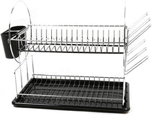 Load image into Gallery viewer, Luciano Housewares Heavy Duty Kitchen Essential Dish Drying Rack, 12 x 12 inches