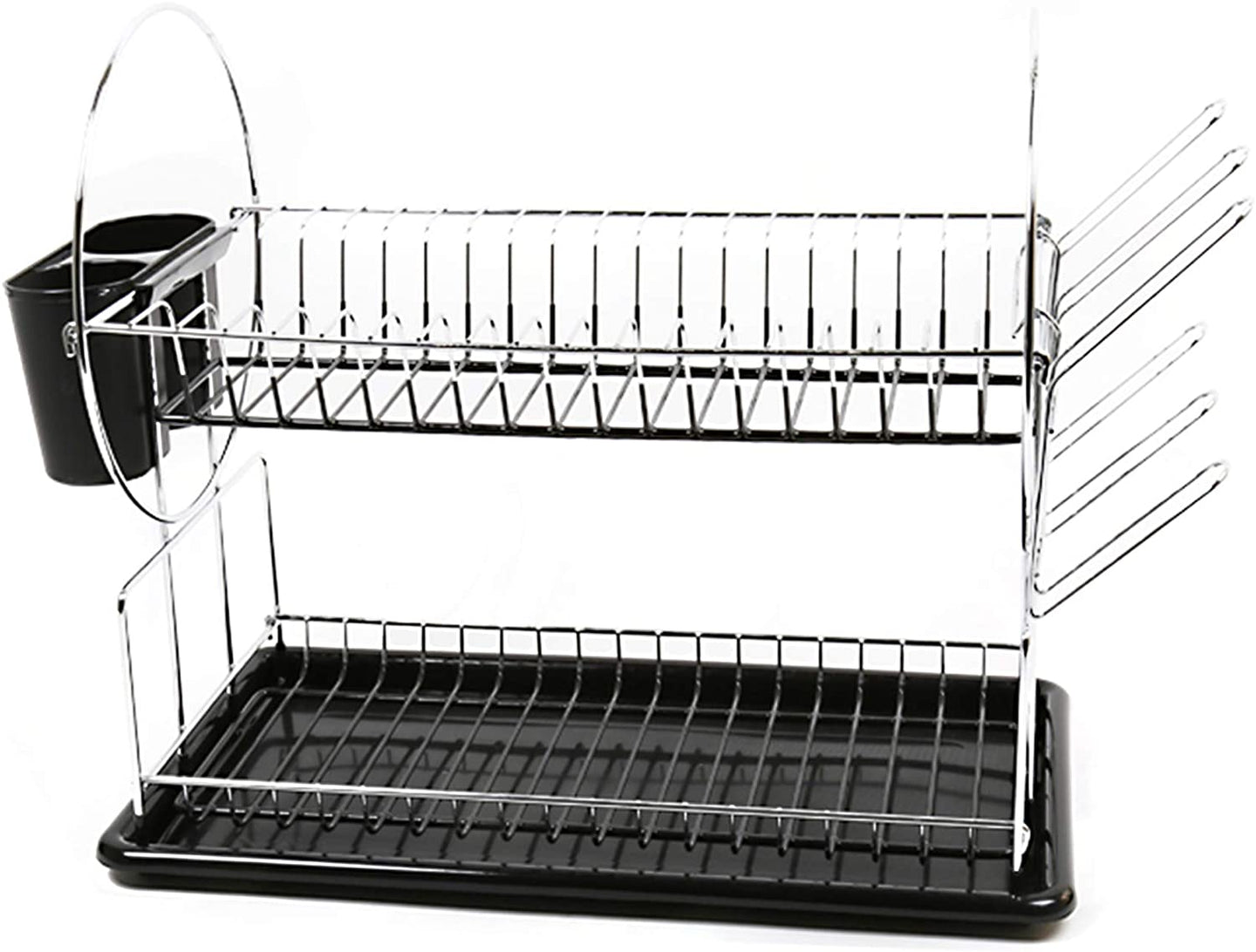 Luciano Housewares Heavy Duty Kitchen Essential Dish Drying Rack, 12 x 12 inches